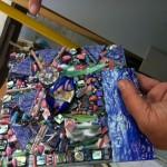 Nan's mosaic piece, sans grout