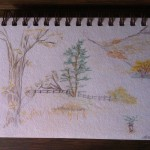 sketched view of Garland Park