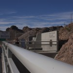 View of Hoover Dam exhibit area from the pedestrian bridge overpass