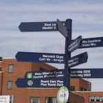 Directional signs in Cardiff