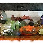 Waterlogue-Glass Pumpkins