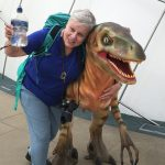 Sandy and Dinosaur at Dynamic Earth