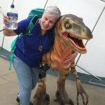 Sandy and Dinosaur at Dynamic Earth