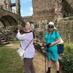Yours Truly and Sandy at Raglan Castle-