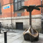Brass Flower Sculpture in Temple Bar, Dublin