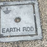 Earth-Rod Manhole Cover, Dublin Ireland