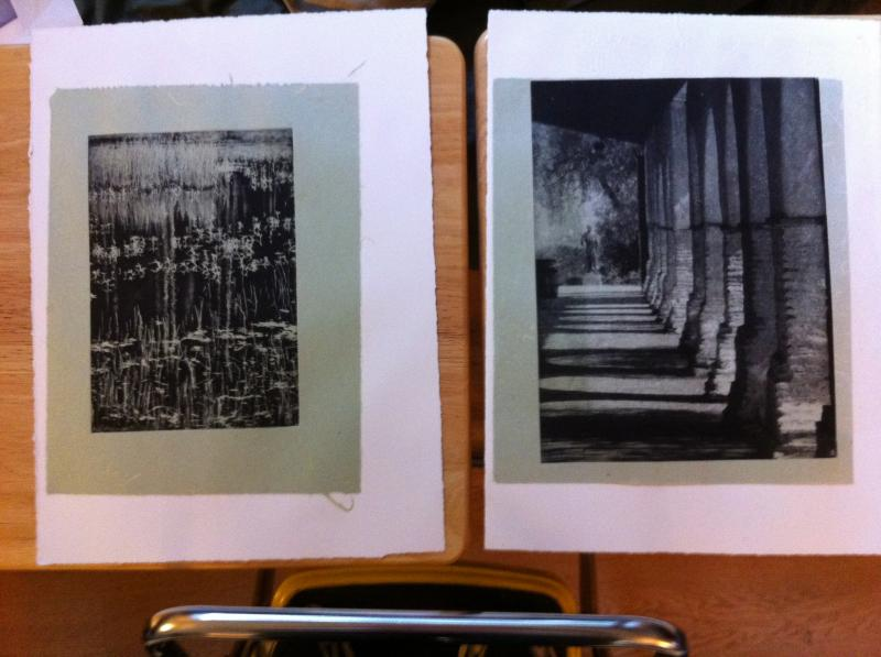 Examples of photographs turned into photopolymer prints